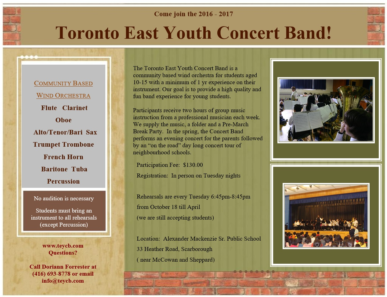 Orchestra for Kids Flyer